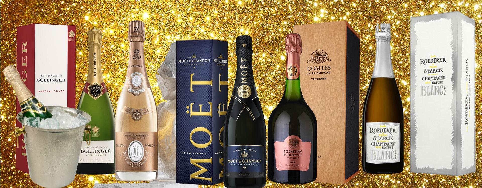 Champagne Roederer, Bollinger, Moët Chandon, Taittinger