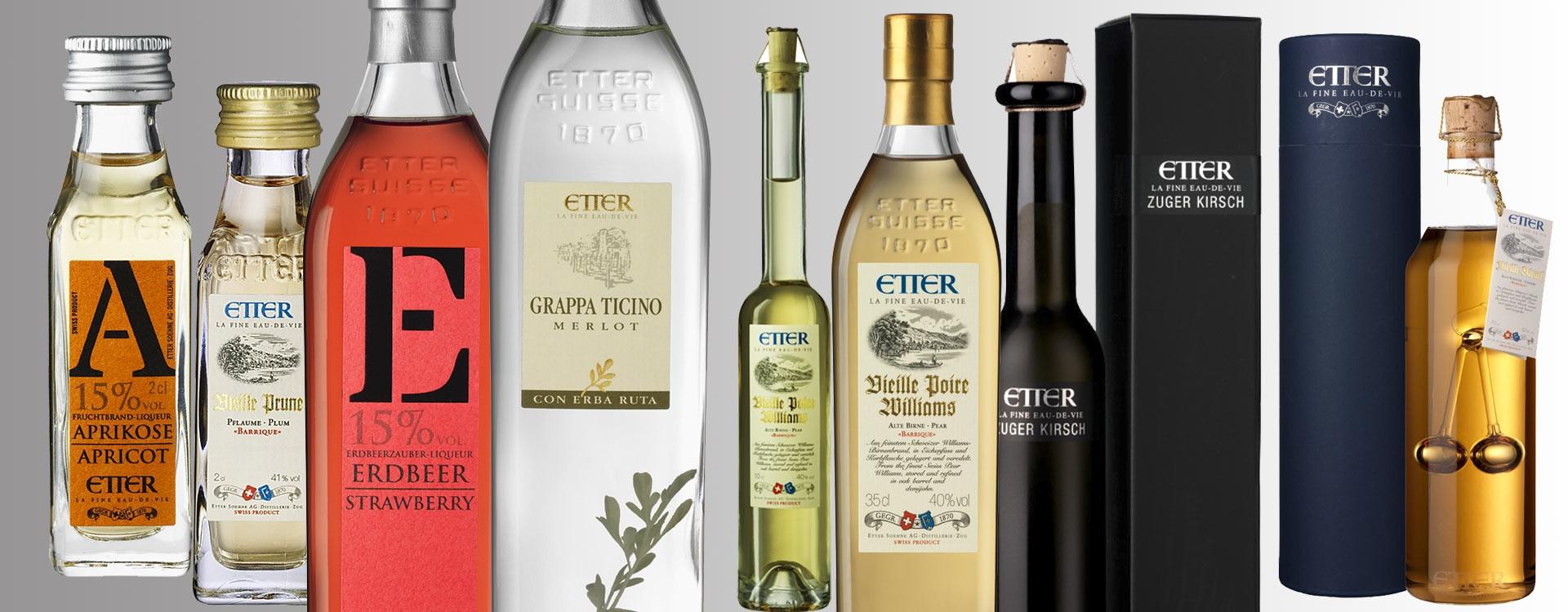 Fruit Brandies and Liquors Etter from Switzerland