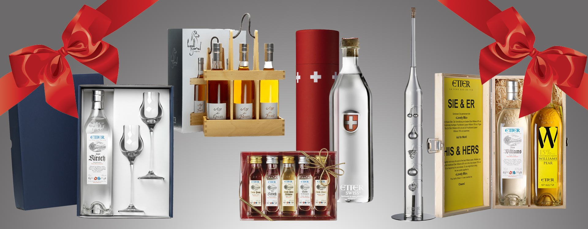 Ideas of somptuous gifts Brandy, Cognac, Kirsch, Rum