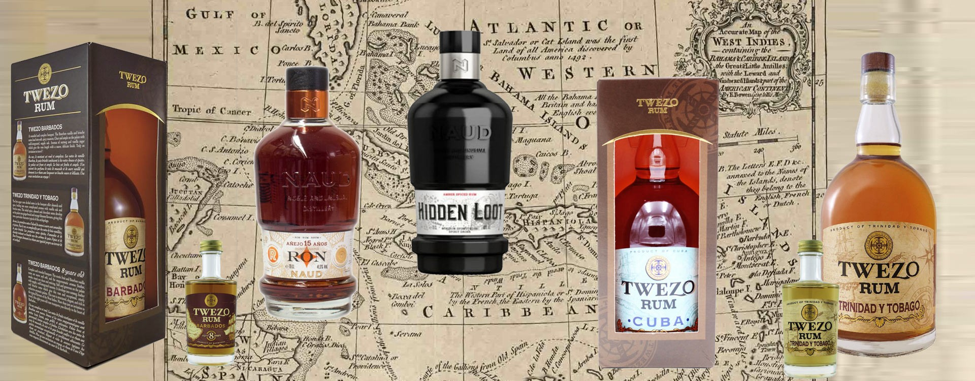 Great Rums from Trinidad, Cuba, Barbados, by Swiss and French Distilleries